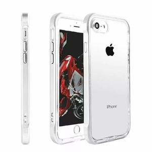 White Lined Shockproof TPU iPhone Case